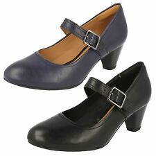 Clarks Ladies Mary Jane Leather Court Shoes Denny Date