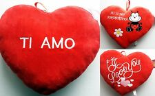 CUORE SAN VALENTINO TI AMO I LOVE YOU AMORE CUSCINO REGALO SPECIALE PORTAFORTUNA