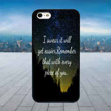 ED SHEERAN QUOTE STARS Black Hard Phone Case Cover Fits Iphone Models