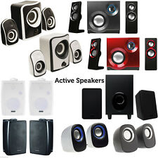 QUALITY Compact Active Surround Sound Speaker System -TV/Laptop Gaming Phone Kit