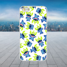 TOY STORY STITCH ALIEN PATTERN White Hard Phone Case Cover Fits Iphone Models