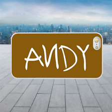 ANDY TOY STORY White Hard Phone Case Cover Fits Iphone Models