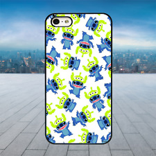STITICH ALIEN TOY STORY PATTERN Black Rubber Phone Case Cover Fits Iphone Models
