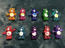 NEW CARE BEARS GLITTER COLLECTIBLE FIGURES SERIES 2 COMPLETE SET FREE SHIPPING