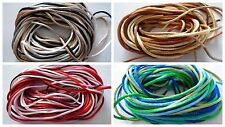 12 METRES 2MM KUMIHIMO BRAIDING CORD - 4 COLOURS X 3M EACH - CHOICE OF PACKS