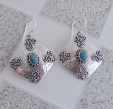 Gemstone Solid Silver, 925 Bali Handcrafted Earring 37115