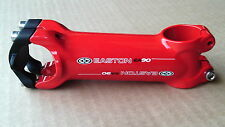 """Easton EA90 Alloy Stem 31.8mm Clamp / 1 1/8""""  A head 90 / 100 length Red New"""