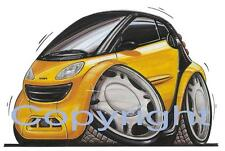 Koolart - Personalised Smart Car Yellow - iPhone 5, 6 or 6+ Case - 0452