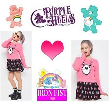 Iron Fist Care Bears Stare Adorable Pink Plush Sweater S-L/UK8-UK12