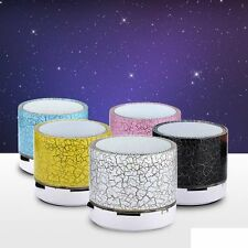 Mini Speaker Bluetooth Wireless Portatile Basso per MP3 iPhone iPad+LED luci UK