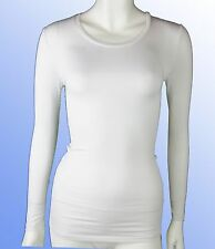 Damas Thermal Top Manga Larga Cuello Redondo Capa Base 8-22 GRIS BLANCO ROTO