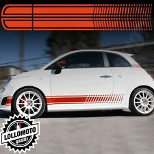 Strisce Corse Per  Fiat 500 Abarth Adesivi Stickers Fiancate Auto Strip Decal