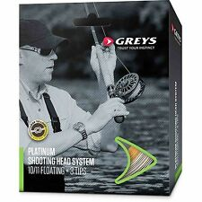 Greys New Platinum Float & Intermediate Shooting Head System Salmon Fly Line