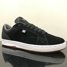 DC SHOES  ASTOR S BLACK WHITE SKATE TRAINERS