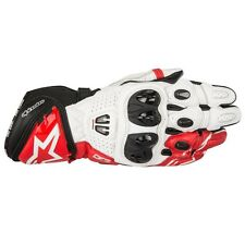 Alpinestars GP Pro R2 Leather Racing Motorcycle Riding Gloves - Black/White/Red