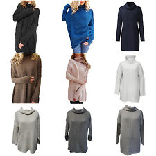 Women's Knitted Sweater Loose Batwing Sleeve Pullover Jumper Outwear Tops L1U3