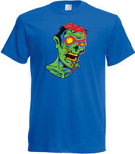 Zombie Horror T shirt , short sleeve round neck, Choice of size & colours,