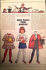 Vintage Betsy McCall Mag. Paper Doll, Betsy McCall Turns Magician, March 1978