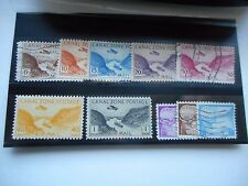 Canal Zone 10 Mint/Used Airmail Stamps