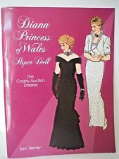 1997 Diana Princess of Wales Charity Auction Dresses Paper Dolls by Tom Tierney