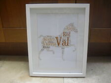 LUXURY HORSE word art picture with frame mount diamontes