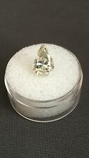 2.51ct VVS1 (11.61mm) AAA OFF WHITE YELLOW PEAR LOOSE MOISSANITE