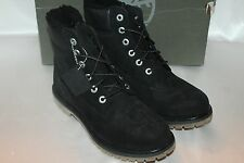 NEW TIMBERLAND Womens Waterproof Black Suede Leather Hiking Work Ankle Boot 9 10