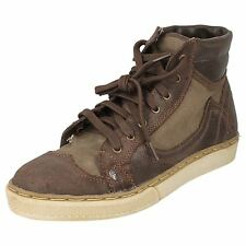 Mens Firetrap Lace Up Cup Sole Leather Brogue Inspired Ankle Boot - Favour FT