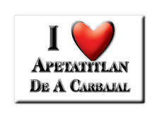 MEXICO SOUVENIR FRIDGE MAGNET IMAN DE NEVERA I LOVE APETATITLAN DE A CARBAJAL