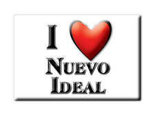 MEXICO SOUVENIR FRIDGE MAGNET RECUERDO IMAN DE NEVERA I LOVE NUEVO IDEAL