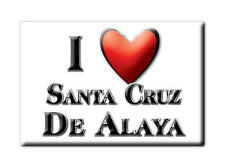 MEXICO SOUVENIR FRIDGE MAGNET IMAN DE NEVERA I LOVE SANTA CRUZ DE ALAYA