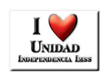 MEXICO SOUVENIR FRIDGE MAGNET IMAN DE NEVERA I LOVE UNIDAD INDEPENDENCIA IMSS