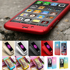 FULL COVER 360 PER IPHONE E SAMSUNG GALAXY CUSTODIA PROTETTIVA + VETRO 9 H