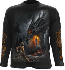 Spiral Direct DRAGON SLAYER Maniche Lunghe T-shirt/Biker/Tattoo/Skull/Wild/