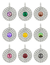 Sterling Silver Rivoli Pendants made with 1122 Crystals 12mm Swarovski® Crystals