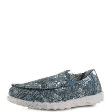 Mens Dude Shoes Farty Print Blue Jungle Slip On Casual Loafers Size