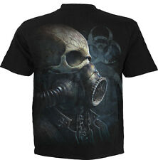 Spiral Direct BIO-SKULL T Shirt/GasMask/Reaper/Biohazard Armour/Biker/Tattoo/Top