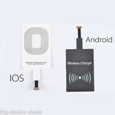 QI Wireless Charging Charger Receiver Adapter For Apple Iphone 5 5S 6S 6 Plus 7+