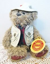 BRASS BUTTON BEAR COLLECTION 1997 TANNER BEIGE VEST & HAT 11