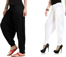 1 PATIALA LEGGINGS BLACK / WHITE PACK WOMEN PATIALA LEGGINS Legis Lycra LEGGINGS