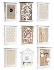 Wooden Key Box Rack Cabinet KEYS Holder Hooks Storage Shabby chic wall mounted