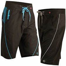 Nookie Boardies - Black with Blue or Grey - Board Shorts Surf Summer