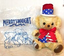 MERRYTHOUGHT CHEEKY STARS AND STRIPES MOHAIR BEAR -  MINT IN PLASTIC