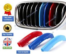 BMW 3 SERIES 5 SERIES M SPORT GRILL 3 COLOR COVER STRIPES  KIDNEY CLIPS GRILLE