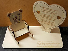 Childrens Baby Teddy Bear  Memorial Plaque, With Personalisable Rocking Chair