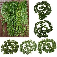 12x Artificial Vid Hiedra Hoja Garland Follaje de Boda Yard Decor Wall