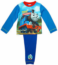 THOMAS THE TANK ENGINE - Chicos SUPER SOFT AZUL Pijama Talla 18 meses-5 años