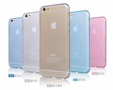 Apple iPhone 6 6s 6Plus 6sPlus Transparent Clear Soft Case TPU Rubber Case