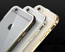 Apple iPhone 6 6s Plus Hybrid Ultrathin Metal Bumper Case Transparent Back Cover