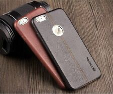 Vorson Double Stitch Premium Leather Back Case Cover for Apple iPhone All Models